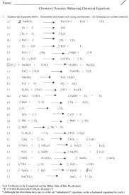 balancing chemical equations worksheets with answers reactions pdf worksheet simple practice worksh balancing chemical equations