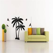 palm tree wall stickers: amazoncom quot x quot wall sticker palm coconut tree branch wall decal with seagull birds baby nursery diy vinyl lettering saying mural art wall decor