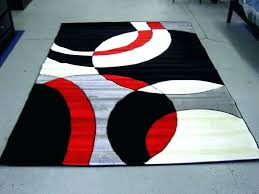 black and white area rugs for wonderful black and red area rug wonderful black and