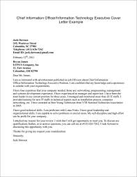 Technology Cover Letters Sample Cover Letter For Resume Information Technology Cover Letter