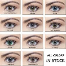 Crystal Light Blue Contacts Quartz Prescription Yearly Colored Contacts