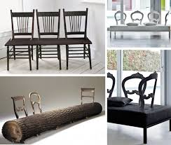 chair benches diy blackwhite