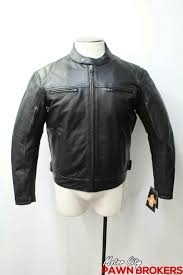 american rider longhorns leather men s black heavy duty motorcycle jacket new