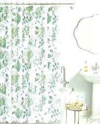 silver and white shower curtain nature curtains miller botanical fabric cotton bland print na nature shower curtains