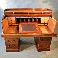 secretary desk plans desk antique fine writing bureau large cylinder roll top desk secretary desk diy