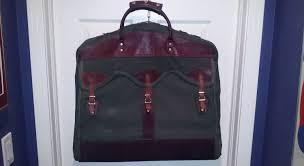 orvis battenkill leather canvas travel garment wardrobe bag carr