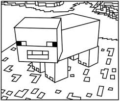 Small Picture Minecraft Pig Coloring Pages 550x462 Picture Coloring and