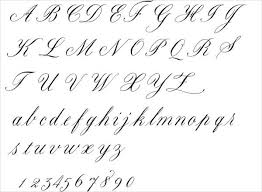 Handwriting Fancy Cursive Letters