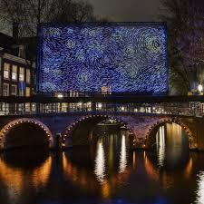 Van Gogh Museum Amsterdam Light Show