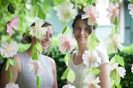 Paper Flower Backdrop Garland Extra Fine Crepe Paper Chiffon Lia Griffith