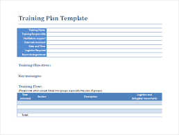 training plan template word sample training plan 12 example format