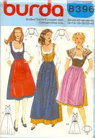 Dirndl Pattern Delectable Misses German Bavarian Dirndl Dress Apron By PatternPriority 4848