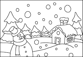 Small Picture Granular Snow Falling Winter Coloring Pages For Kids eiQ