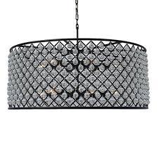 cassiel large black drum crystal chandelier