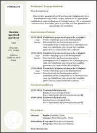 Ejemplos De Curriculum Vitae Cronologicos Youbioit Com