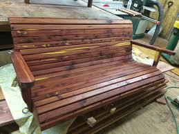 porch swing 5ft Cedar swing cedar swing wooden porch