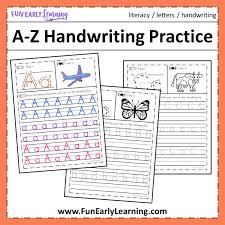 This alphabet learning resource is a great activity where children can practice the alphabet in a fun way. A Z Handwriting Practice No Prep Worksheets For Learning Letters