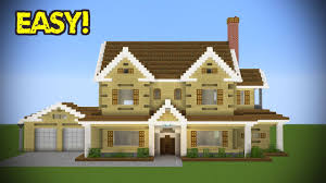 Big Minecraft House Designs Minecraft Large Suburban House Tutorial