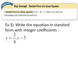 write an equation in standard form jennarocca