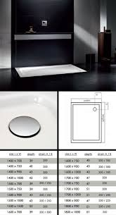 big skinny large low level shower tray 60l