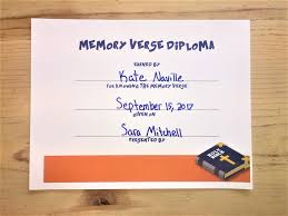memory verse diploma children s ministry deals memory verse diploma