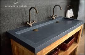 47 gray double trough sinks granite bathroom basins stone yatÉ
