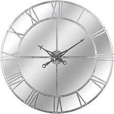 hill interiors foil mirrored wall clock
