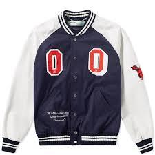 off white patch varsity jacket blue 1
