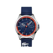 men s blue capbreton watch lacoste