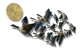 amazon 50x22 geese birds metal wall art home decor wall sculpture home kitchen on flying geese wall art metal with amazon 50x22 geese birds metal wall art home decor wall