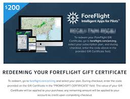 redeem one or more foreflight gift card code s at a time at foreflight pricing select your plan then enter each code in the promo gift certificate