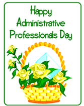 Administative Day Free Administrative Professionals Secretary Day Printable Greeting Cards