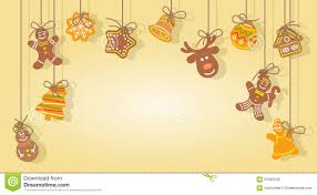 cute gingerbread background. Delighful Cute Download Christmas Gingerbread Cookies Hanging On The Ropes Vector  Background Stock  Illustration Of Design To Cute S