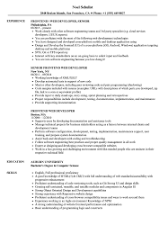 Frontend Web Developer Resume Samples Velvet Jobs