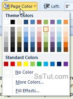 Small Picture Change documents page background color in Word 2010