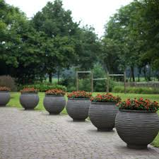 Charming Modern Planters For Outdoor Potted Plant Design Fiberglass  Exterior With Ideas And On Cozy Pavers