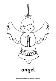 angel colouring pagesangel colouring page