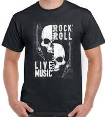 Rock N Roll Jeans Size Chart Details About Rock N Roll Live Music Mens T Shirt Skulls Festival Heavy Metal Guitar Electric