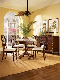 Yellow Dining Room With Tropical Accents (Image 30 of 30)