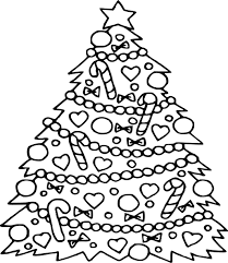 Small Picture Christmas tree coloring page