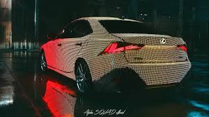 Car Body Lights 2017 Lexus Lit Is F Sport Unveil Full Body Covered With Led Lights