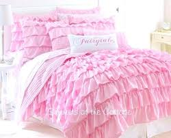 ruffled bedding sets dreamy pink ruffles shabby cottage chic twin or full queen quilt set ruffle ruffled bedding