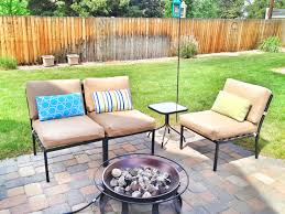 exciting patio with sunbrella replacement cushions and outdoor furniture plus patio paver and firepit