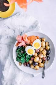 Which translates to eating salmon, soup, steak, salad, etc, etc for your first meal of the day! Smoked Salmon Breakfast Bowl Fork In The Road