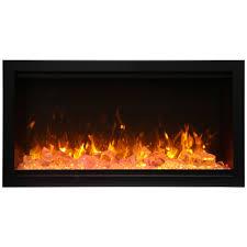 amantii sym 34 xt symmetry xt 34 extra tall built in glass electric fireplace w black steel surround