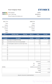 garage invoice template sample invoice template for online invoicing anatomy pinterest