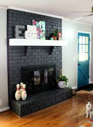 mantel thoughts and door color intense teal rock paper feather painting a fireplace