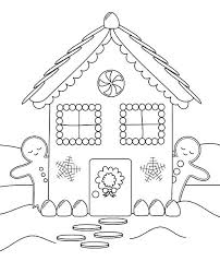 Gingerbread House Coloring Pictures Printable Gingerbread House