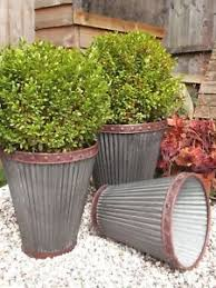 garden planters. Image Is Loading Vintage-Style-Large-Round-Metal-Garden-Planters-Tubs- Garden Planters A