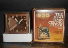 vintage high time alarm clock woodtone 7706 projects on ceiling hoyle stancraft
